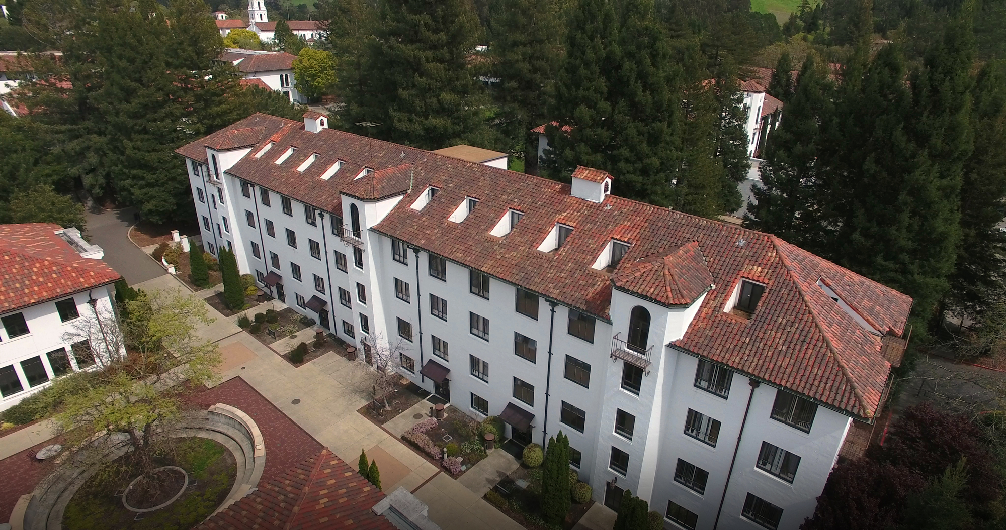 Augustine dorm from a birds eye view