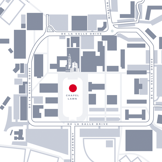 Graphic map showing location of Chapel Lawn