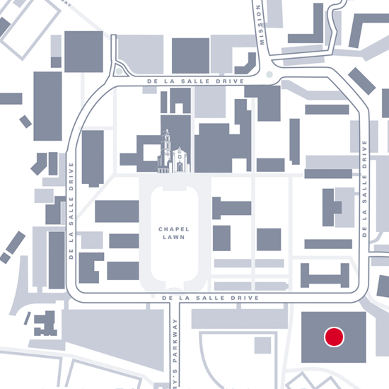 Graphic Map showing location of Rec Center